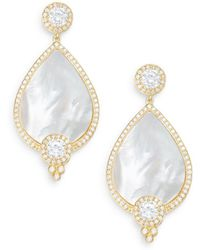 Freida Rothman - Visionary Mother-of-pearl & 14k Yellow Gold Vermeil Teardrop Earrings - Lyst