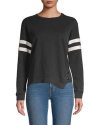 C&C California - Snap-front Striped Top - Lyst