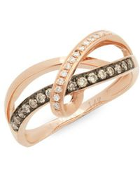 Le Vian - Chocolatier® 14k Strawberry Gold®, Vanilla Diamond® & Chocolate Diamond® Ring - Lyst