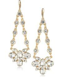 ABS By Allen Schwartz - Crystal Chandelier Earrings - Lyst