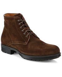Aquatalia - Harvey Suede Work Boots - Lyst
