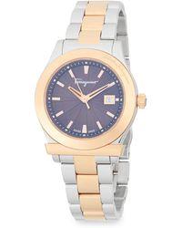 Ferragamo - Stainless Steel Bracelet Watch - Lyst