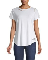 NYDJ - Lace-trimmed Tee - Lyst