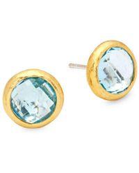 Gurhan - Blue Topaz And Sterling Silver Stud Earrings - Lyst