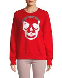 Zadig & Voltaire - Skull Graphic Cotton Sweatshirt - Lyst
