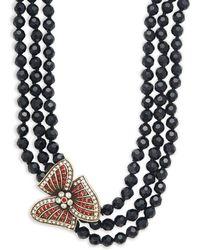 Heidi Daus - Holiday Asymmetric Beaded Multi-strand Necklace - Lyst