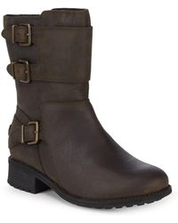 UGG - Wilcox Leather Moto Boots - Lyst