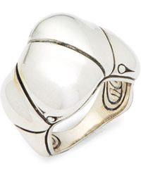 John Hardy - Sterling Silver Carved Ring - Lyst