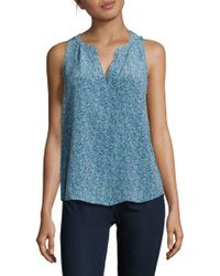 Joie - Fifi Printed High-low Silk Top - Lyst