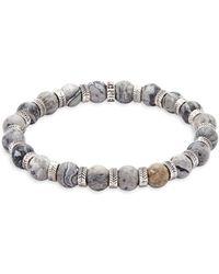 Perepaix - Stainless Steel & Netstone Beaded Bracelet - Lyst