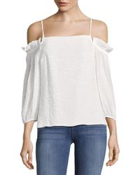 The Vanity Room - Plain Off-the-shoulder Top - Lyst