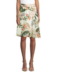 Philosophy - Floral Flared Skirt - Lyst