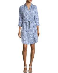 Robert Graham - Hayden Three-quarter Sleeve Cotton Shirt Dress - Lyst