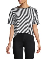 Betsey Johnson - Diagonal Striped Cropped Top - Lyst