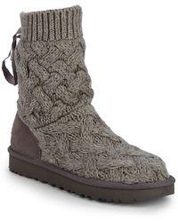 UGG - Isla Knit Sweater Boots - Lyst