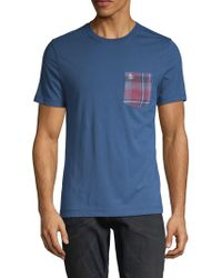 Original Penguin - Plaid Patch Short-sleeve Flannel Tee - Lyst