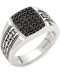 Effy - Black Sapphire & Sterling Silver Ring - Lyst