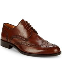 Saks Fifth Avenue - Brogued Wingtip Derby Shoes - Lyst