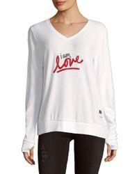 Peace Love World - I Am Love V-neck Jumper - Lyst