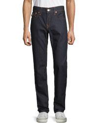 True Religion - Skinny Flap Back Pocket Jeans - Lyst