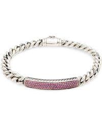 David Yurman - Sterling Silver & Pink Sapphire Bracelet - Lyst