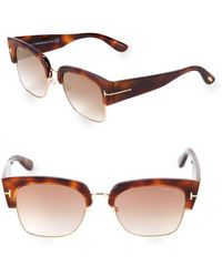 f9bd5eda9d860 Lyst - Tom Ford 55mm Square Sunglasses in Brown
