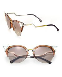 Fendi - Edged Zig-zag Optyl Cat's-eye Sunglasses - Lyst