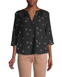 567e6aac1c2787 Lyst - Joie Marru Silk Blouse in Black