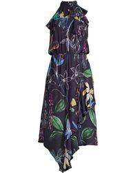 Parker - Julieta Stretch-silk Midi Dress - Lyst