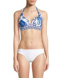 Tommy Bahama - Full Fronds Print Halter Bikini Top - Lyst
