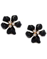 Kenneth Jay Lane - Crystal Flower Stud Earrings - Lyst