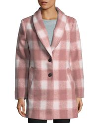 English Factory - Oversized Checkered Jacket - Lyst