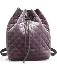 Brunello Cucinelli - Velvet Backpack - Lyst