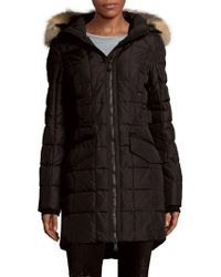 Pajar - Fox Fur-trimmed Quilted Zip-front Coat - Lyst