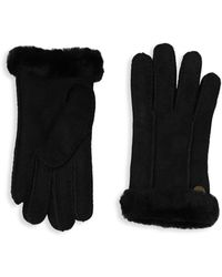 UGG - Perforated Shearling Gloves - Lyst