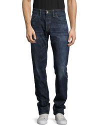 Shockoe Atelier - Whiskered Cotton Denim Pants - Lyst