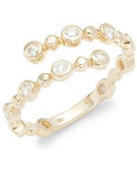 KC Designs - Diamond & 14k Yellow Gold Arrow Ring - Lyst