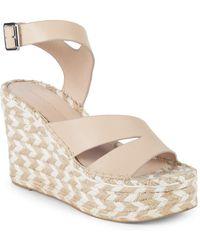 Sigerson Morrison - Arien Leather Platform Wedge Sandals - Lyst