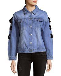 English Factory - Denim Cotton Jacket - Lyst
