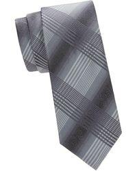 Saks Fifth Avenue - Check Silk Tie - Lyst