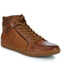 Steve Madden - Prinz Leather Sneaker Boots - Lyst
