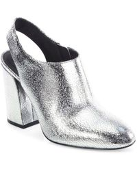 577376c989db Michael Kors - Clancy Metallic Leather Booties - Lyst