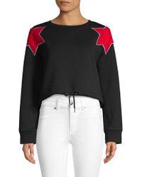 Lea & Viola - Star Cropped Sweatshirt - Lyst