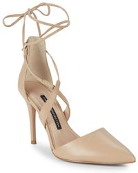 French Connection - Elise Leather Pumps - Lyst