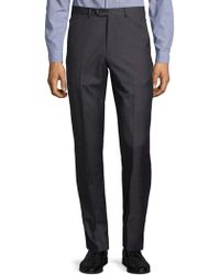 Armani - Melange Textured Trousers - Lyst