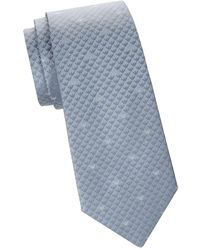 Armani - Subtle Print Silk Tie - Lyst