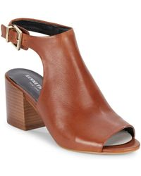 Kenneth Cole - Val Leather Cutout Sandals - Lyst