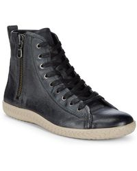 John Varvatos - Star High-top Leather Sneakers - Lyst