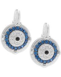 Judith Ripka - Lucky Sapphire Evil Eye Earrings - Lyst