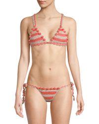 Tularosa - Cora Crocheted Bikini Top - Lyst